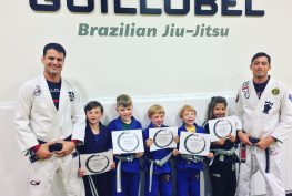 Kids Martial arts school belt test