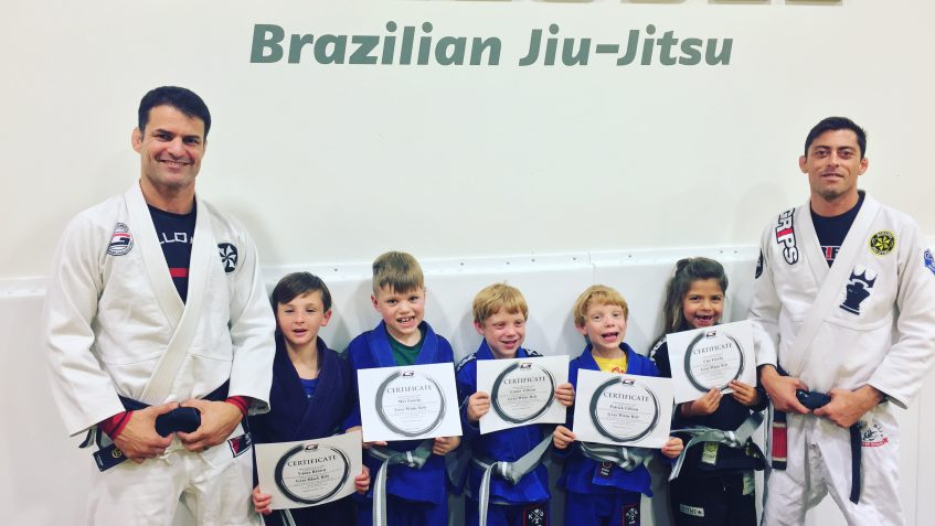 Kids Martial arts school belt test